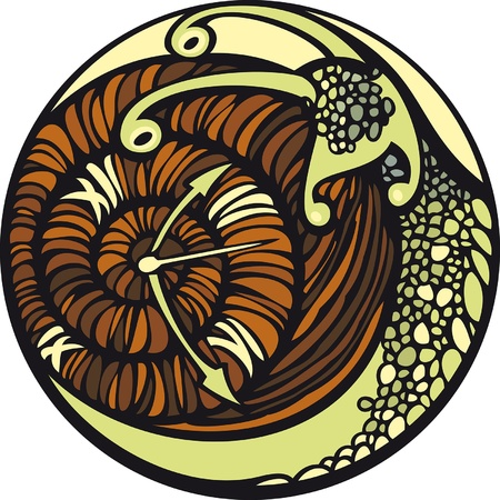 Snail and the time. Snail moves so slowly... And it seems, that time is stopped.