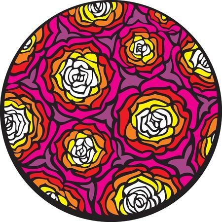 Rosas Hay muchas rosas en el c�rculo Vectores