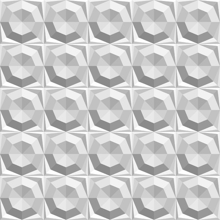 hexahedron: Vector abstract geometric seamless pattern