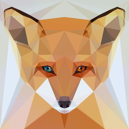 zorro: cara de un zorro con ojos heterocromía