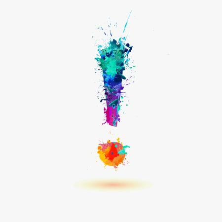 Vector watercolor splats exclamation mark 向量圖像