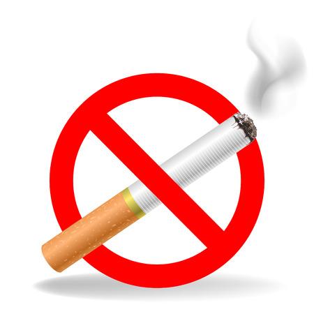 habit: sign - smoking is prohibited crossed-cigarette