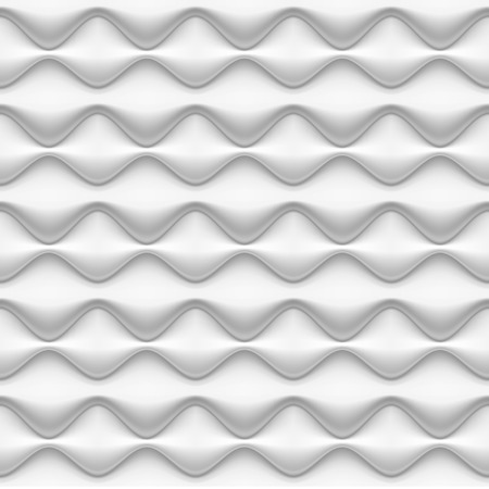 inflated: Vector seamless background seamless pattern - white inflated waves