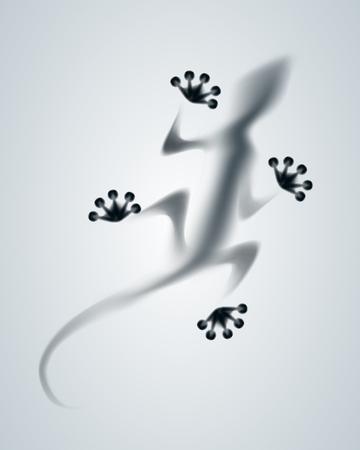diffuse: Vector diffuse lizard silhouette