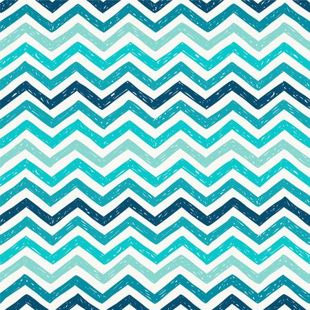 Seamless pattern - marine zigzag