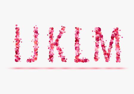 part of me: Pétalos de rosa rosa alfabeto. Parte 3. Letras I, J, K, L, M.