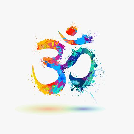Om. symbole de la chance hindoue Vecteurs