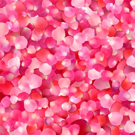 fondo de color rosa con pétalos de rosa
