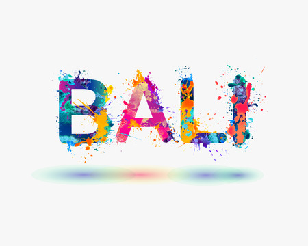 BALI. Splash paint word Illustration