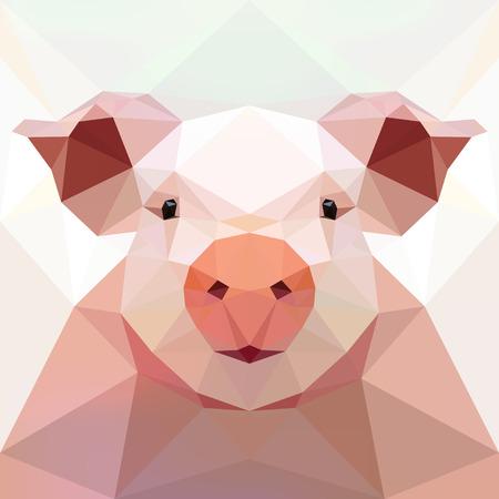 Cara de un cerdo