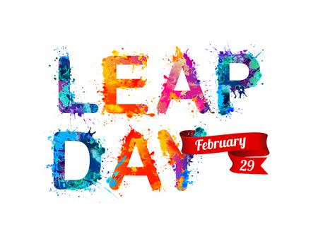 February 29. LEAP DAY. Stock fotó - 52266077