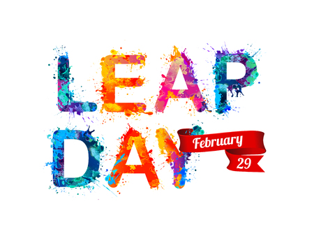 colorful: February 29. LEAP DAY.