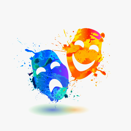 theater masks  イラスト・ベクター素材