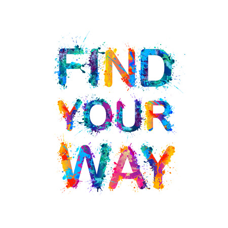 FIND YOUR WAY Vector Illustration