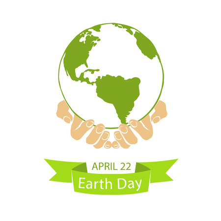 observance: EARTH DAY. April 22. Planet in hands