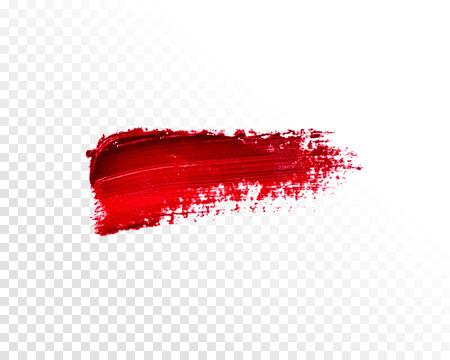 Vector isolated brush. Oil paint smear
