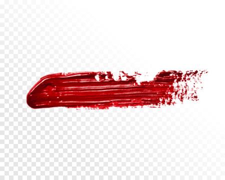 smear: Vector isolated brush. Oil paint smear