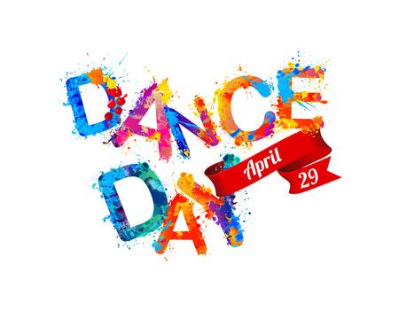 29: Dance day. April 29. Vector colorful sign Illustration