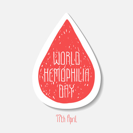17th: World hemophilia day. 17th April. Vector symbol