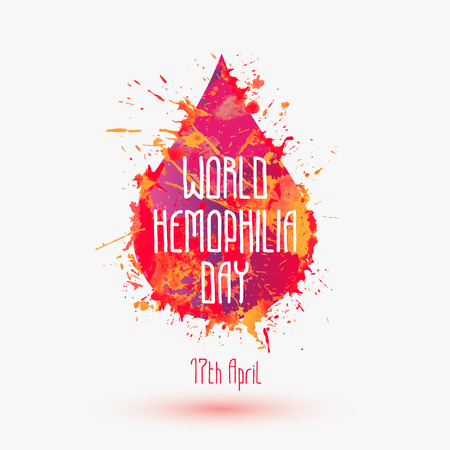 World hemophilia day. 17th April. Vector symbol