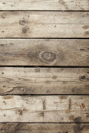 planking: natural old wood planking vertical grunge background Stock Photo