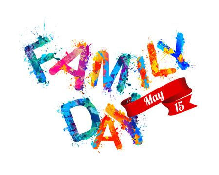 Family day. May 15. Vector holiday card