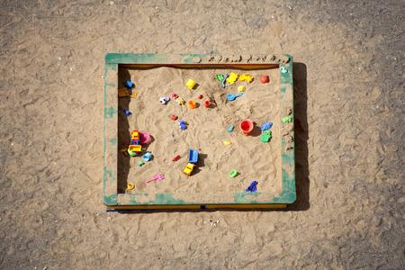 day care center: Sandbox. Day care center (kindergarten). Top view.