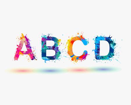 Alphabet. Letters A B C D. Colorful
