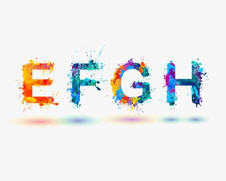 Alphabet. Letters E, F, G, H. Part 2