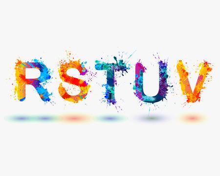 u s: Alphabet. Letters R, S, T, U, V. Part 5