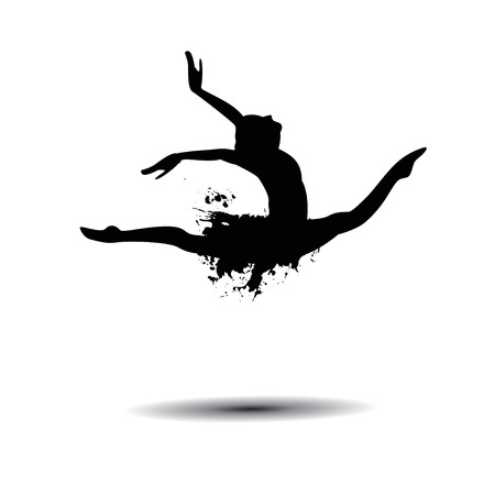 ballerina silhouette: Vector ballerina silhouette isolated black on white Illustration