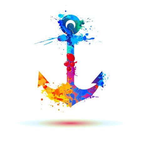 ancoraggio della vernice arcobaleno spruzzi