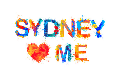loves: Sydney loves me. splash pait inscription