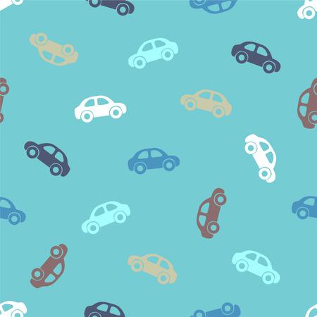 for boys: Seamless vector blue pattern for boys - cars