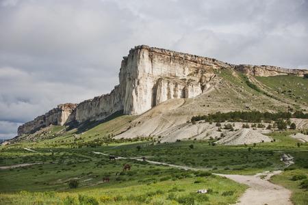 white rock: Landscape with White Rock in Crimea