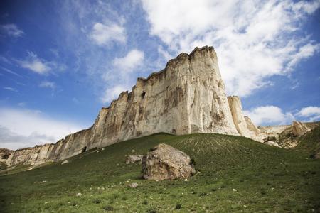white rock: Summer landscape with White Rock in Crimea