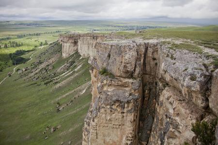white rock: White Rock in Crimea. Mount Ak-Kaia