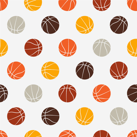 Seamless vector pattern - basketball. Sport abstract background. Ilustração