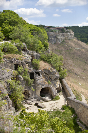 calais: Fortress Calais near Bakhchisaray in Crimea, cave city