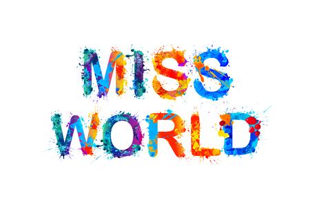 miss: Miss world. Vector