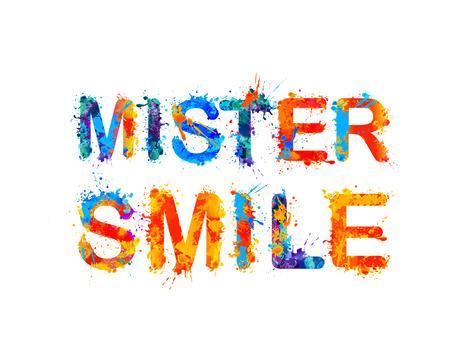 mister: Mister smile. Vector