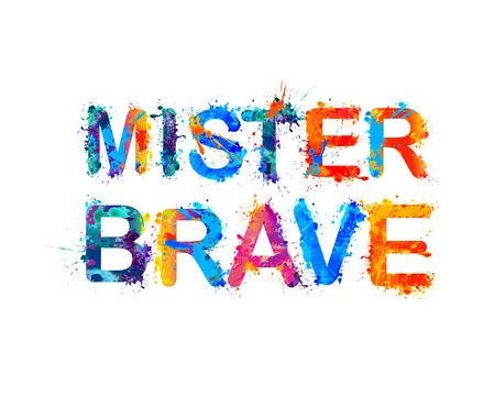 mister: Mister brave. Vector Illustration