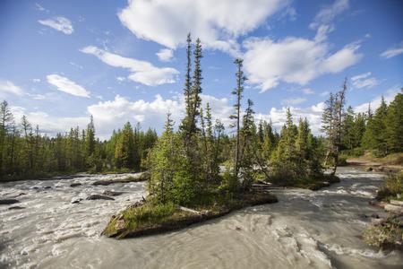 aktru: Mountain river in the Altai Republic of Russia Stock Photo