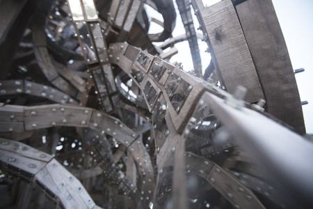 labyrinthine: Chaotic structure background. Abstract gray technical texture