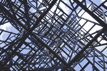 labyrinthine: Chaotic structure. Abstract angular dark geometric texture