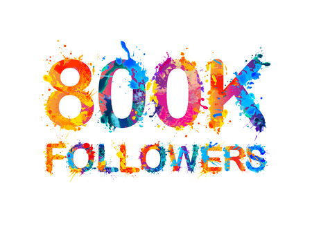 followers: 800K (eight hundreds thousand) followers of splash paint