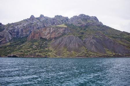 the black sea: Karadag reserve in Crimea. Black sea coast Stock Photo
