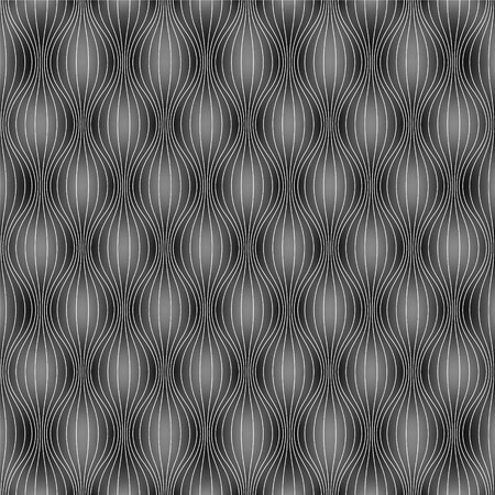 inflated: Vector seamless background (seamless pattern) - dark inflated waves Illustration