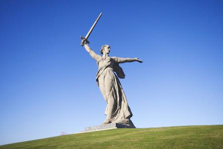 heroism: Volgograd. Mamayev Kurgan - historical memorial complex. Sculpture Motherland. Editorial. 15.10.2016