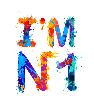 I am number 1. Vector splash paint Illustration